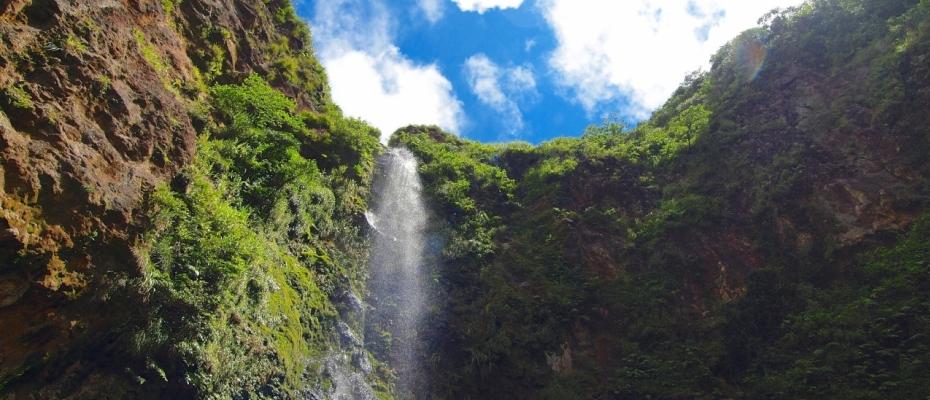 八丈島 三原山の唐滝