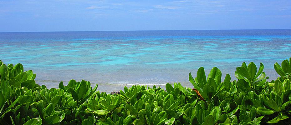 与論島のビーチ兼母海岸